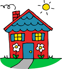 Goodbye Childhood Home House Clipart Cartoon House