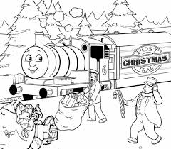 Christmas Thomas The Train Coloring Pages Free | Christmas ...