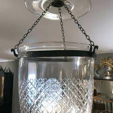 glass bell jar high pair of glass bell jar lanterns with diamond etching for glass glass bell jar