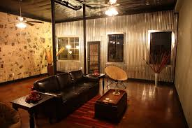 Small Picture Corrugated metal wall in basement of Hoover townhome Office