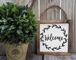 Welcome Sign | Rustic Sign decor | Rustic Welcome Sign | Front Door Decor |  Framed