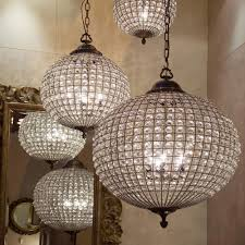 beautiful crystal globe chandelier