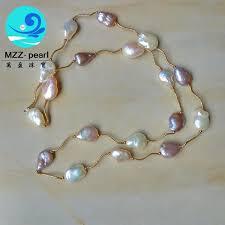 multi color tin cup pearl necklace a y jpg