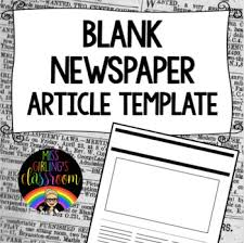 Newspaper Article Template Students Printable Newspaper Article Template Worksheets Tpt