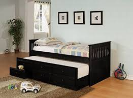 trundle daybed with storage. Modren Storage Coaster La Salle Daybed With Trundle And Storage Drawers In Black Throughout With Amazoncom