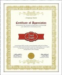 Certificate Of Appreciation Text 8 Free Printable Certificates Of Appreciation Templates