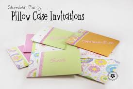 sleepover template pillow case un slumber party invitations onecreativemommy com