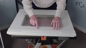 frigidaire oven repair how to replace the outer door glass