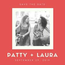 Red And White Photo Frame Lesbian Wedding Save The Date Instagram