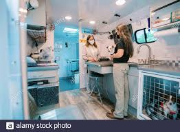 Charlotte, United States Of America. 11th Aug, 2020. Second Lady Karen  Pence meets with Dr. Terra Smith, a military spouse and Veterinarian,  during a tour of SmithÕs DocTerra Mobile Veterinary Services, PLLC