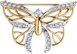 <b>Брошь</b> с камнями <b>бабочка Sokolov</b> 33684738 - Shopsy