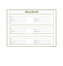 Telephone Number For Address 40 Printable Editable Address Book Templates 101 Free