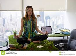 how to meditate in office. Business Woman Doing Yoga Meditation On Table In Office-2 How To Meditate Office A