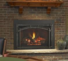 heat n glo escape direct vent gas insert with cau forge front