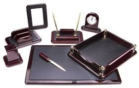 office pen holder. leather desk organizer set executive home office tray pen holder work space gift d