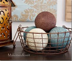 Decorative Balls For Bowl Decorate With Jute 84