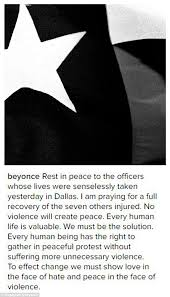 beyonce posts tribute to dallas police officers daily mail online beyonce has posted a tribute to the five police officers killed in dallas pleading for
