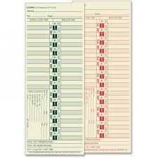 Tops 1275 Bi Weekly Time Clock Cards The Office Dealer