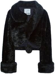 moschino pre owned artificial fur coat