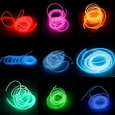 Car Light Decoration 3m Led Flexible Tube Soft Strip Lamp Light 10 Color Party Car