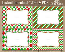 Christmas Address Labels Printable Etsy