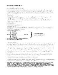 odysseus modern hero comparison contrast essay handout by  odysseus modern hero comparison contrast essay handout
