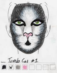 tuxedo cat makeup sketch 1
