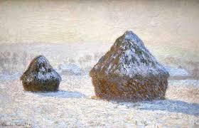 haystacks snow effect 1891