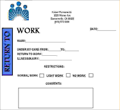 Kaiser Permanente Doctors Note Pdf Kaiser Permanente Doctors Note Template Hunecompany Com
