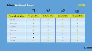 Creative Table Chart Four Features Table Process Chart Business Data Column