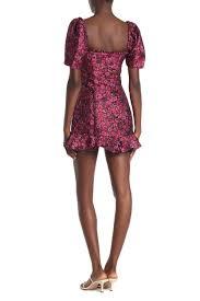 Tularosa Size Chart Tularosa Tate Metallic Mini Dress Hautelook