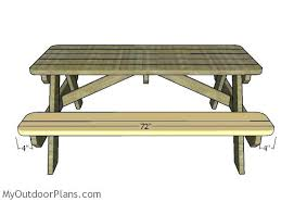 plans for picnic table fitting the seat slats folding picnic table plans pdf free plans for picnic table