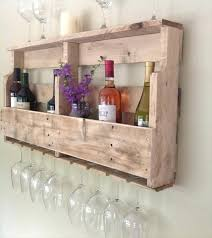 diy wine glass holder pallet wine rack with wine glass holder below diy beach wine glass