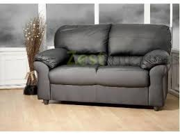 polo two seater high quality black faux leather sofa