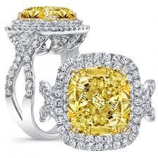 Yellow Diamond Vs White Diamond Yellow Diamond Engagement Rings Diamond Mansion