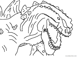 Free godzilla coloring pages are a fun way for kids of all ages to develop creativity, focus, motor skills and color recognition. Godzilla Coloring Pages Close Up Coloring4free Coloring4free Com