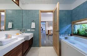 brown and blue bathroom accessories. Blue Bathroom Accessories Dark Brown Varnished Wall Mounted Wooden Mirror Frame Chrome Towel Hanger And