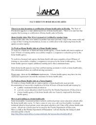Health Care Aide Resume Sample Resume For Study