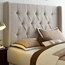 Image of: Modern High King Size Tufted Headboard
