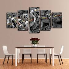 pelican group pop multi panel canvas wall art on pelican canvas wall art with pelican group pop multi panel canvas wall art elephantstock