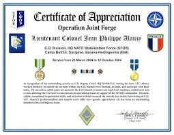 Military Certificate Of Appreciation Template Cool Certificate Of Commendation Template Lccorpco