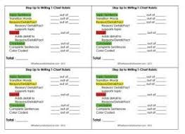 Step Up To Writing T Chart Step Up To Writing T Chart Rubric By Bobbie First Grade