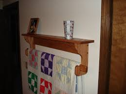 wall hanging quilt rack and shelf by mork lumberjocks