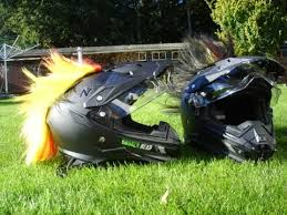 Motorrad Helm Mit LED Beleuchtung