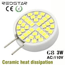 aliexpress com g8 led lamp jcd light bulb bi pin base 110 130v 3w replace 25w halogen lamp white warm white crystal light from reliable light bulb