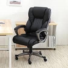 leather office chair amazon. Amazon.com: YAMASORO Leather Office Chair High Back Computer Gaming Desk Executive Ergonomic Lumbar Support Black: Mrszhang: Kitchen \u0026 Dining Amazon A