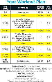 cardio fast lane 30 minute rowing routine