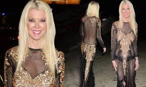 Tara Reid exposes black underwear in see-through gown | Daily Mail ...