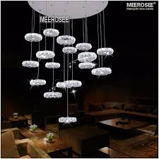 large led crystal ceiling light fixture crystal ring re lamp led light for stairs staircase hallway lobby md2337 l19