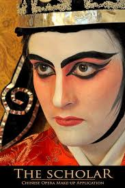 the scholar chinese opera makeup application